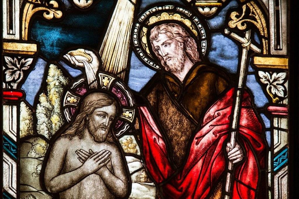 Church Window - Baptism of Our Lord