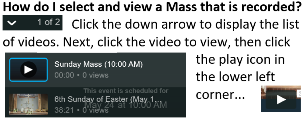 Mass viewing tips
