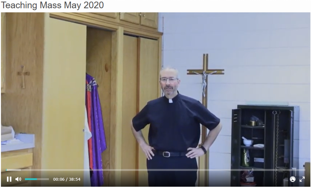 Image link to Fr. Mark's 2020 Teaching Mass Video