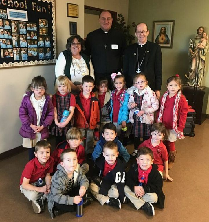 Sacred Heart Preschool with Bishop Olmstead