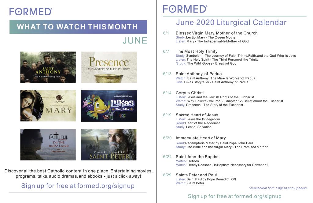 June 2020 Calendar - Formed