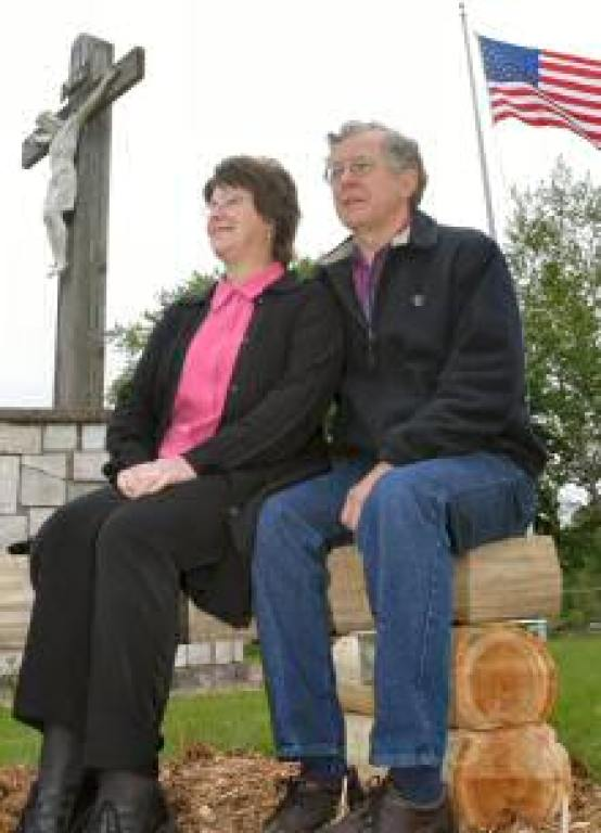 Ken and Judy Sikora at Old Duck Creek Cemetery