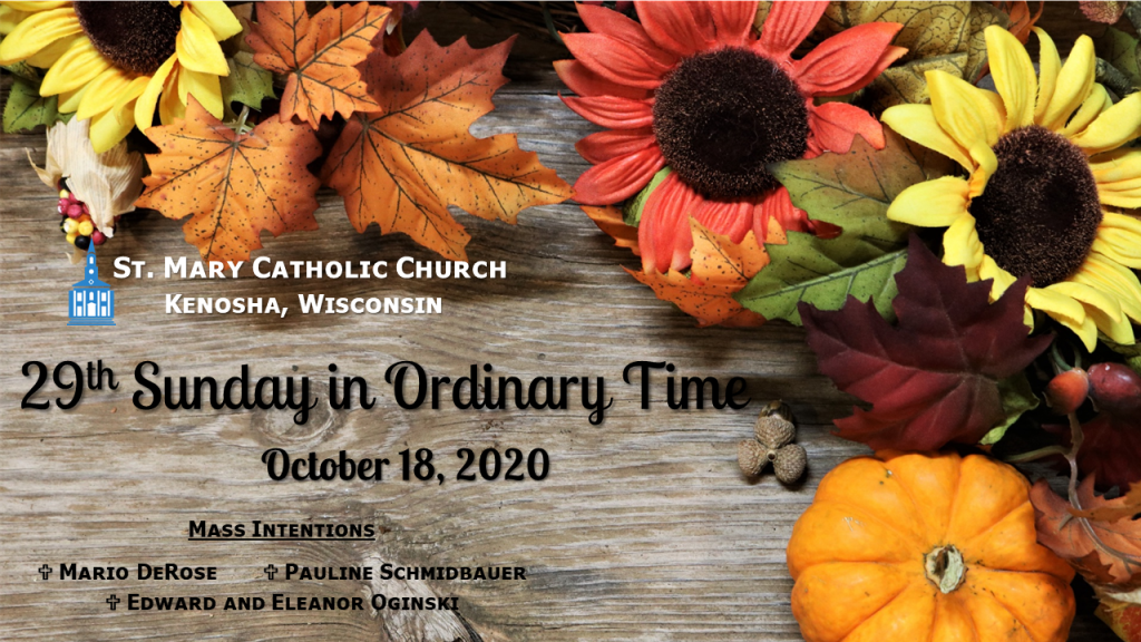 29th Sunday in Ordinary Time Mass
