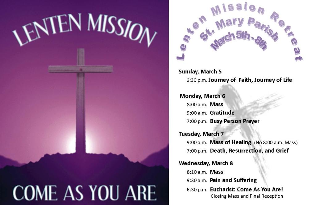2017 Lenten Mission