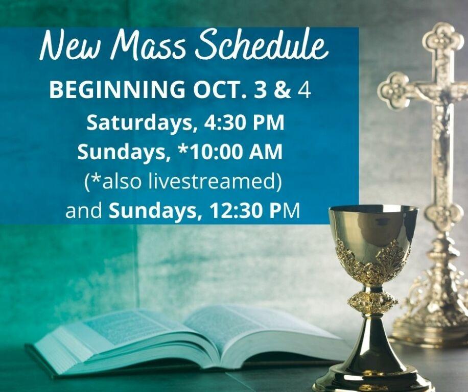 New Mass Schedule 10-3-2020