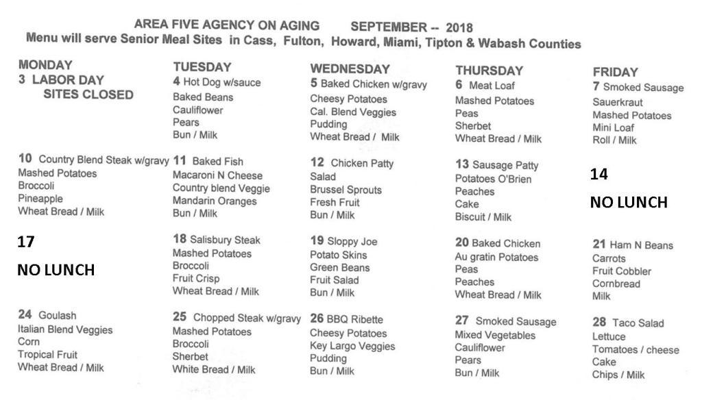 Sept menu