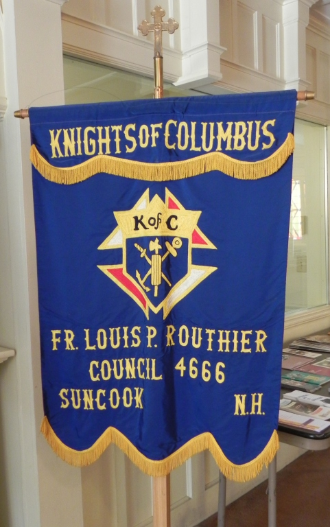 Banner for the Suncook Knights of Columbus