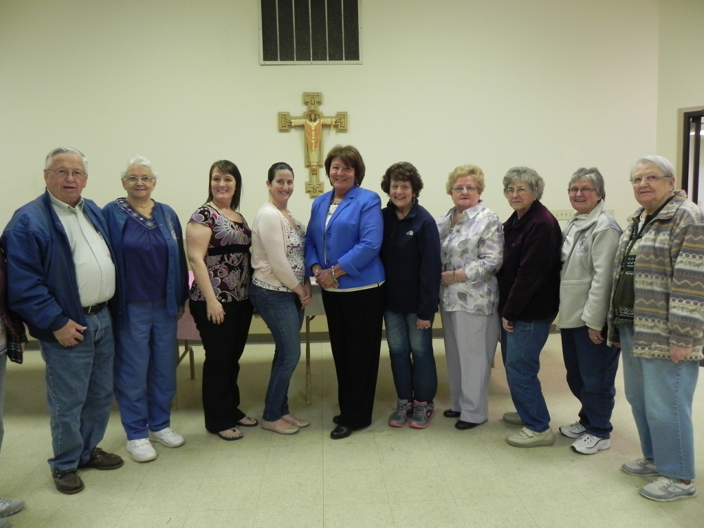 Some members of the St. Therese Rosebush Society