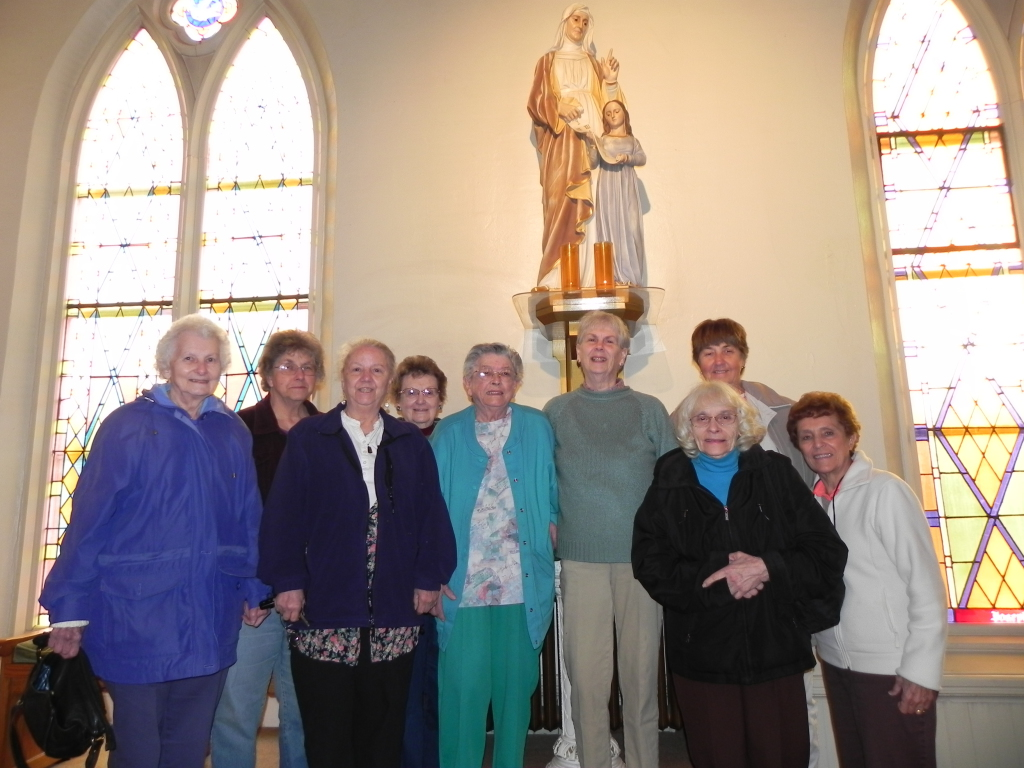 Ladies of Sainte Anne gathered in the church