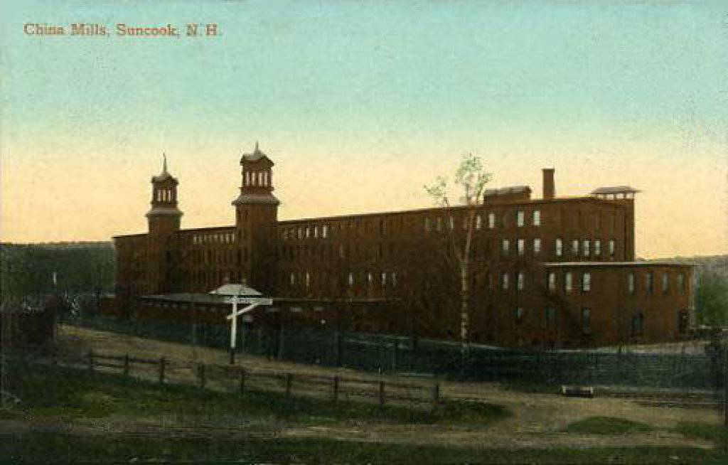 Old postcard of China Mills