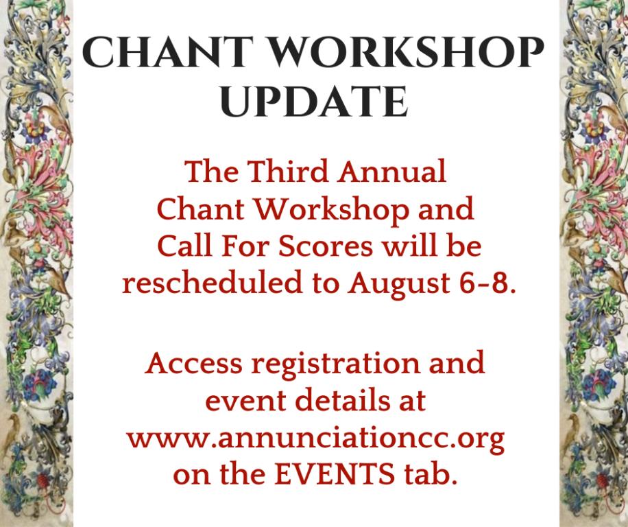 Chant Workshop 2020