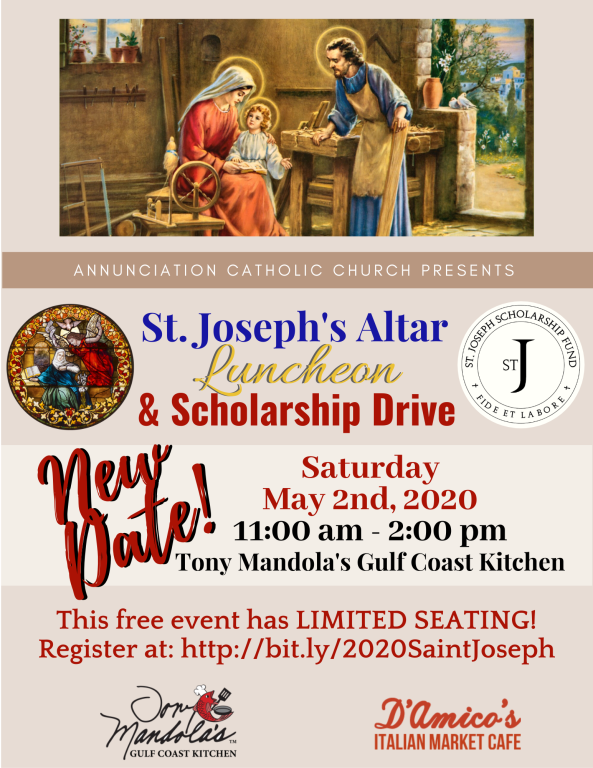 St. Joseph's Altar Luncheon NEW DATE