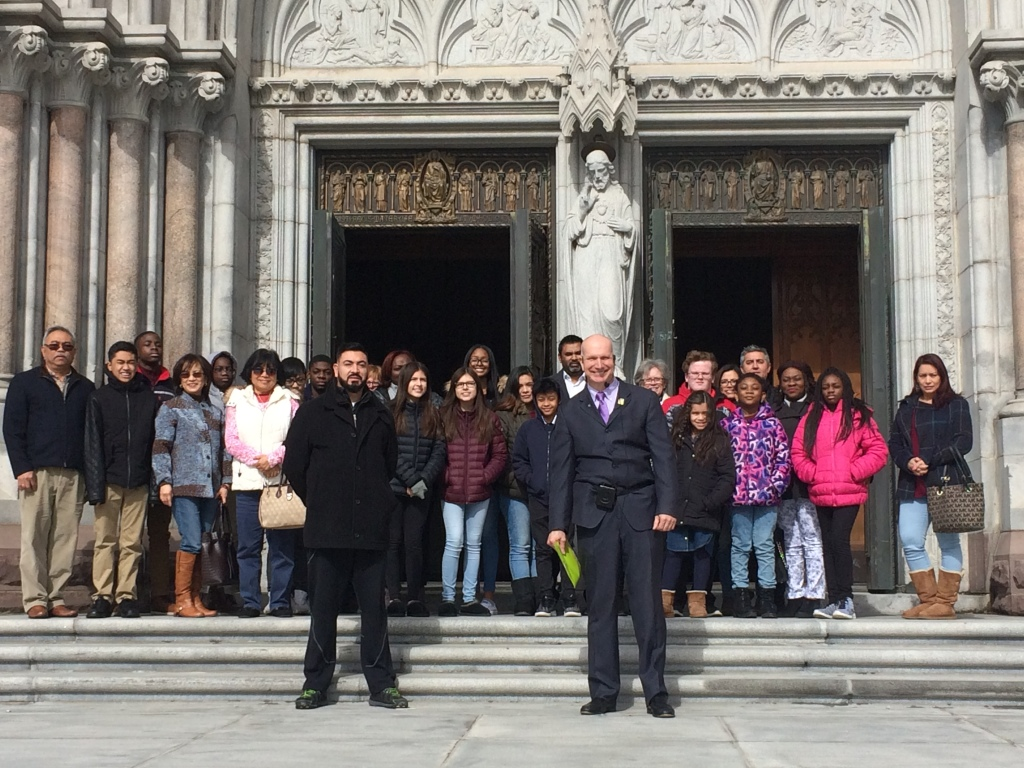 Candidates 2018 in front of the Basillica