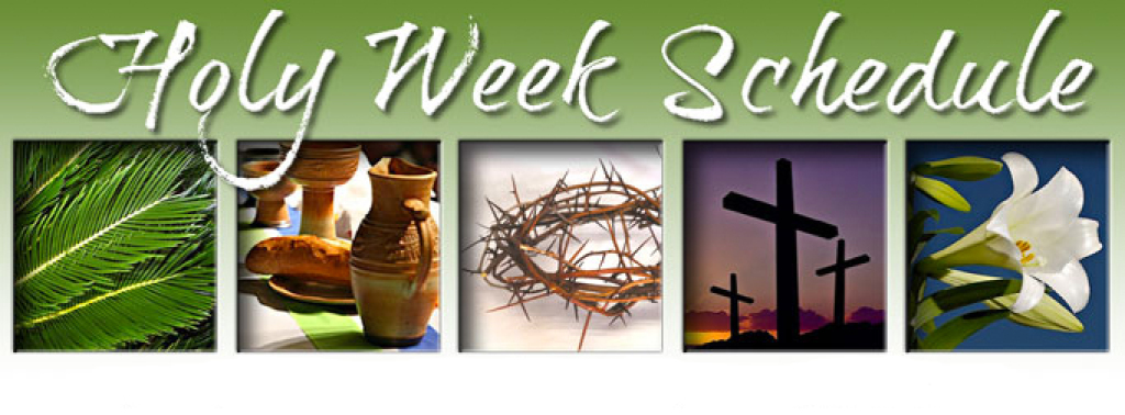 Image result for holy week schedule