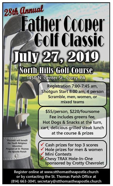 2019 Fr. Cooper Golf Classic
