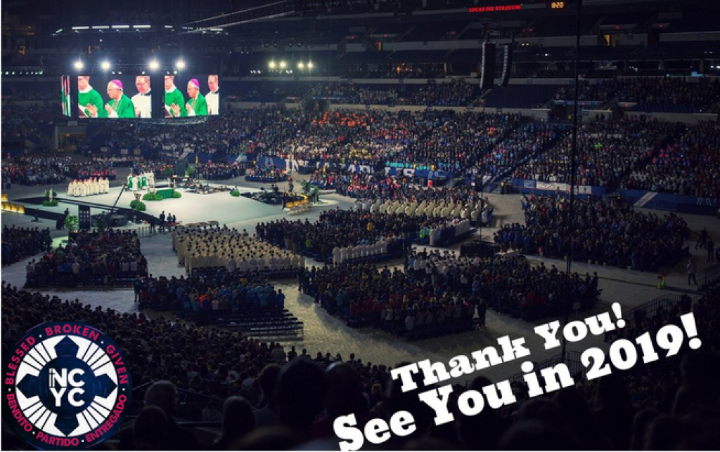 Thank you everyone who signed up to come to NCYC! Please remember to bring your deposits to the office!