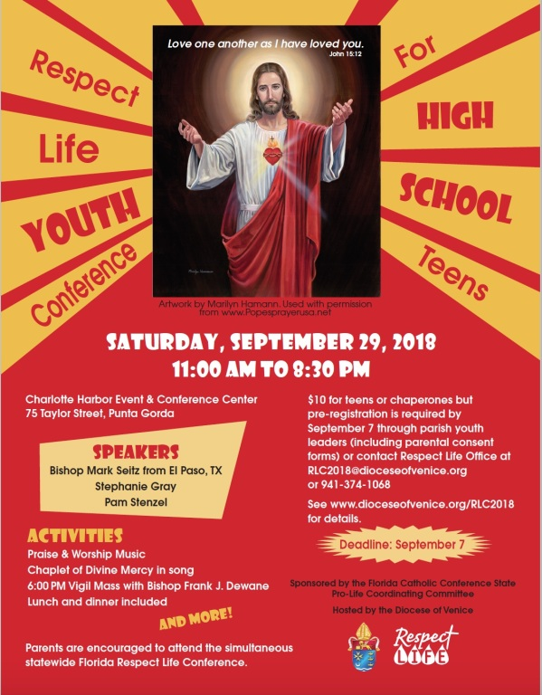 Parish News - 2018 Statewide Florida Respect Life Youth Conference