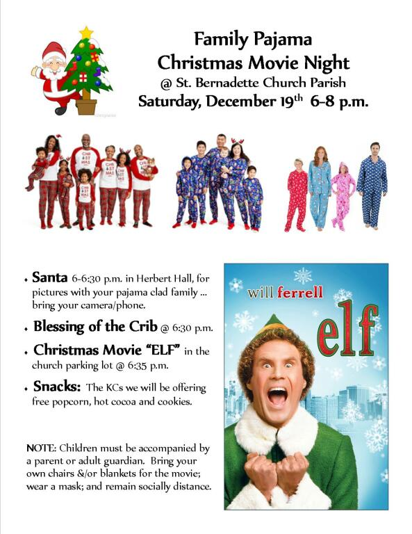 Family Pajama Christmas Movie Night