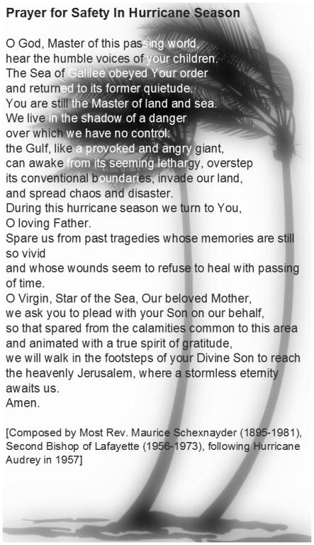 Prayer for Hurricane Season