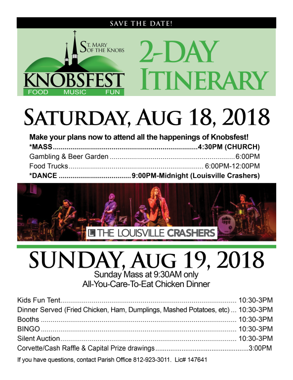 Check out the 2-Day Itinerary of Knobsfest | St  Mary of the