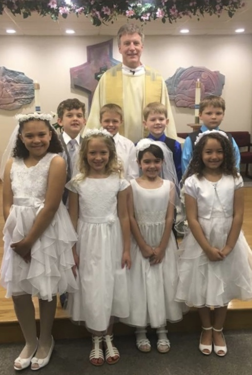 Fr. Patrick O'Loughlin and the First Communion Class of 2017