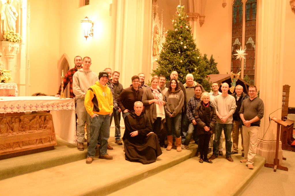 Hoisting The Christmas Trees Saint Peter Parish North