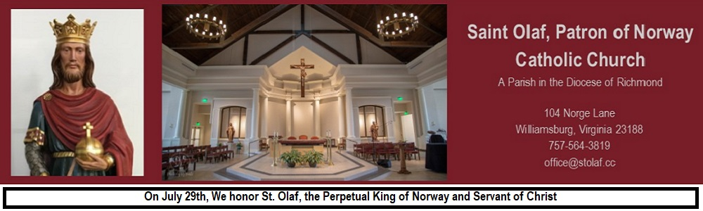 St. Olaf Church, Patron of Norway Catholic Church