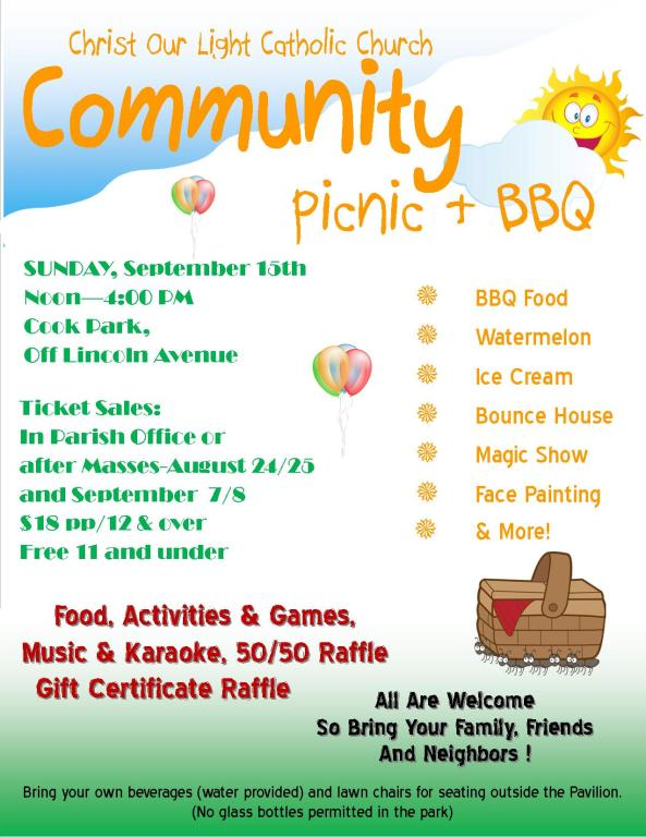 2019 Community Picnic & BBQ TICKETS ON SALE NOW | Christ Our