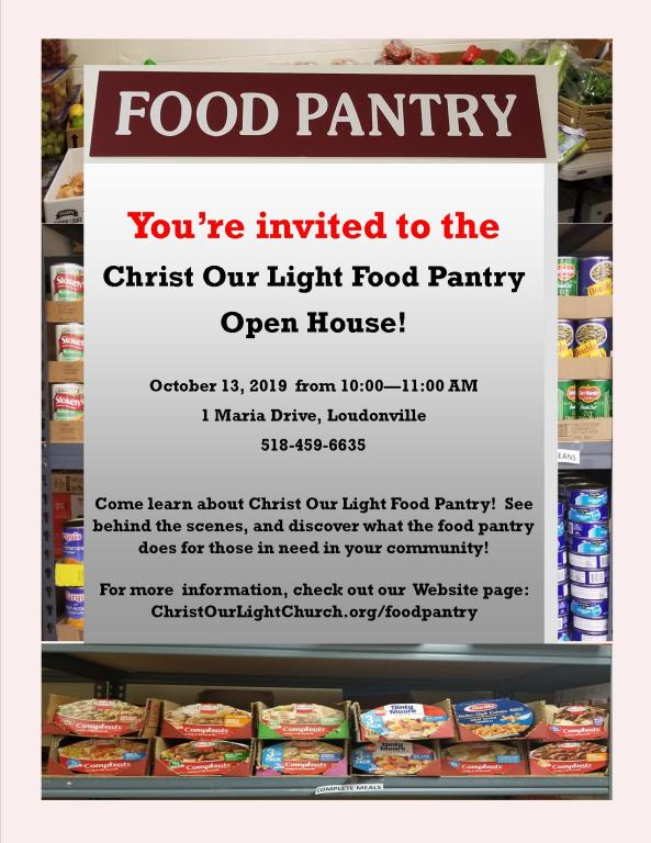 2019 Food Pantry Open House Flyer 1