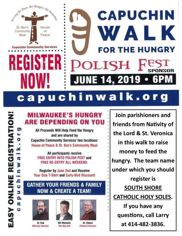 Capuchin Walk for the Hungry