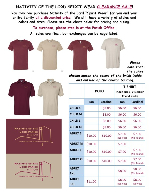 Spirit Wear Flyer