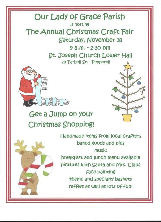 2017 Christmas Craft Fair Flyer