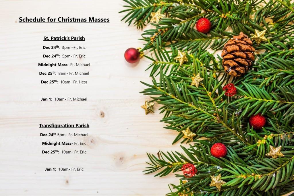 Christmas 2017 Mass Schedule
