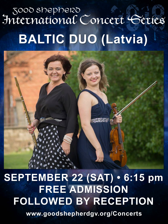 Baltic Duo in Concert at Good Shepherd Catholic Church