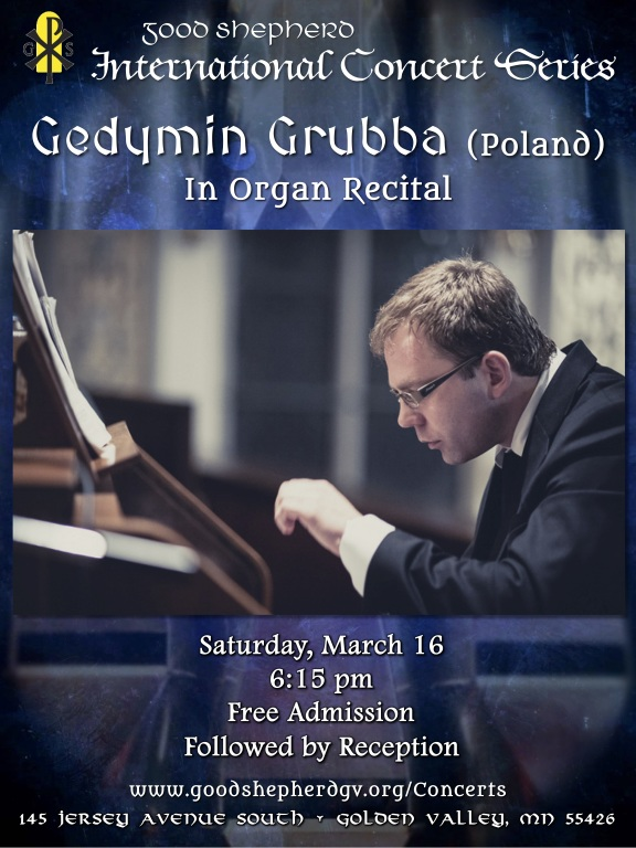 Gedymin Grubba in Concert at Good Shepherd Catholic Church