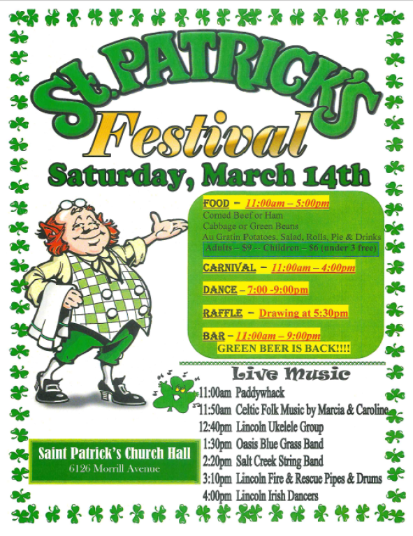 St. Patrick Festival Flyer