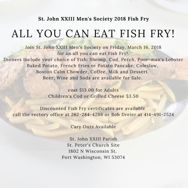 Final Lenten Fish Fry