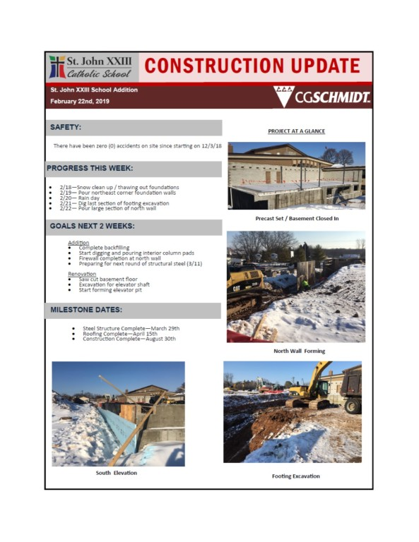 Construction Report 2-22-19