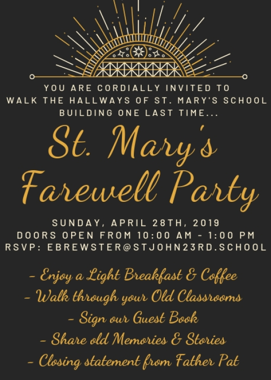 Good bye to St. Mary's School Building