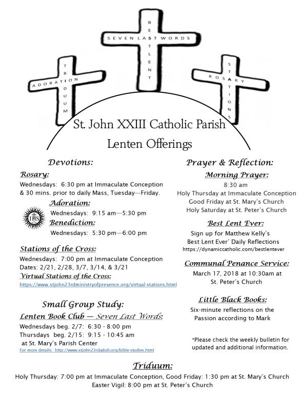 Lenten Offerings