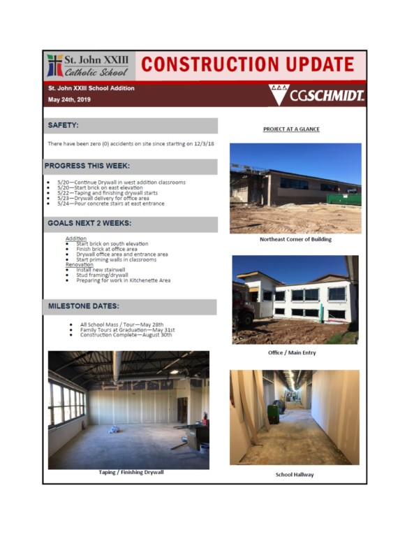 may 24, 2019 construction report