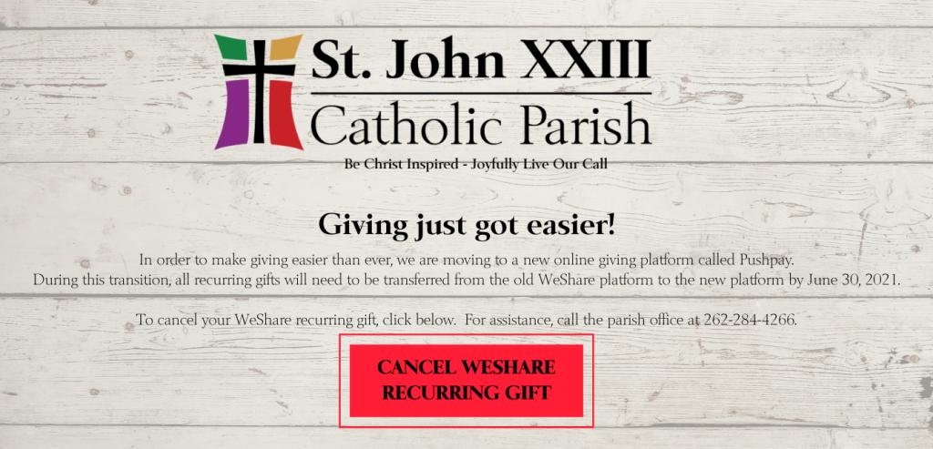 Online Giving Platform