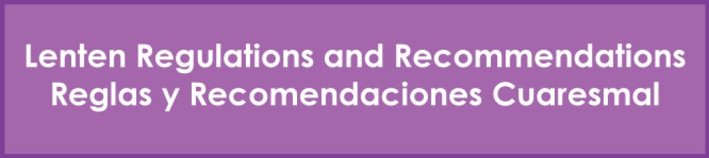 Lent Recommendations