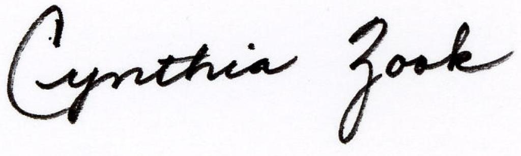 Cynthia's Signature