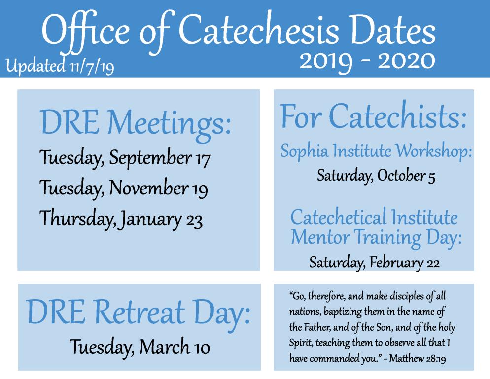 Catechetical Leader Meetings & Events