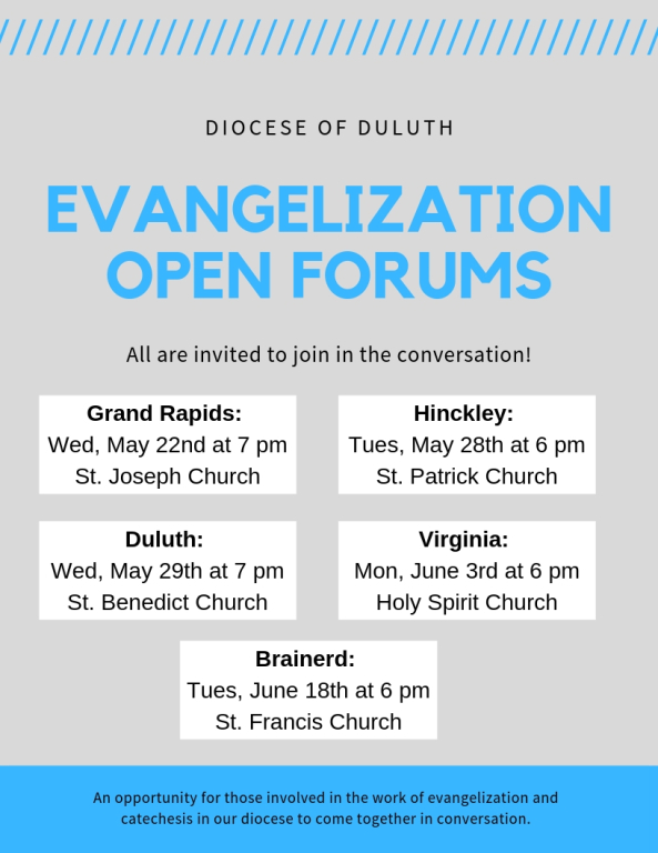 Evangelization Open Forums flyer photo
