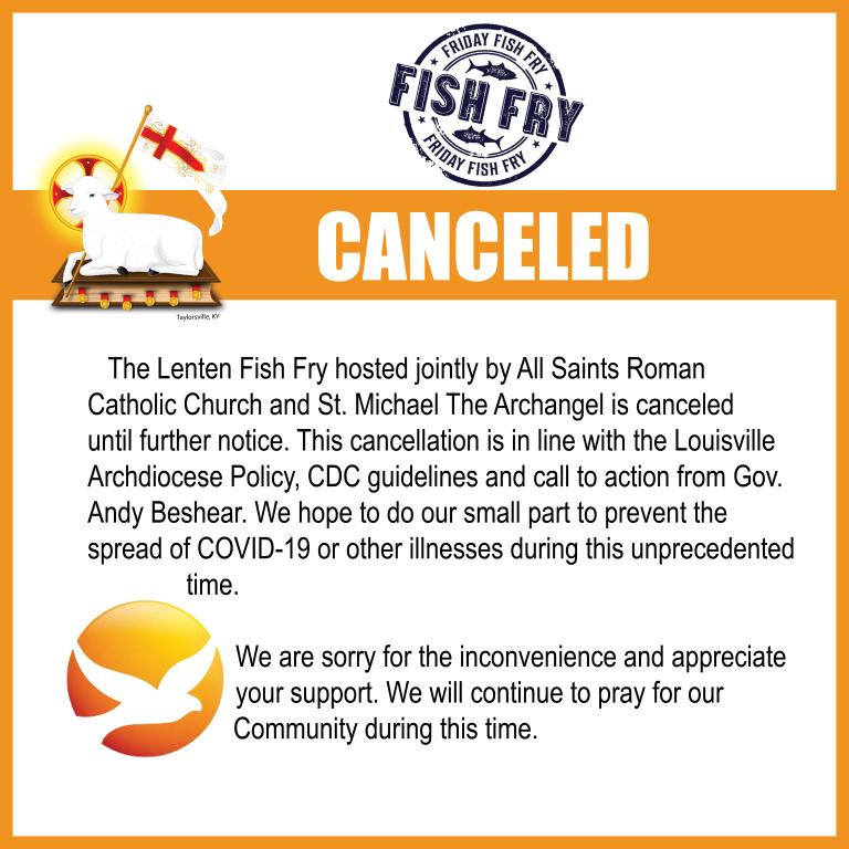 Fish Fry Cancellation
