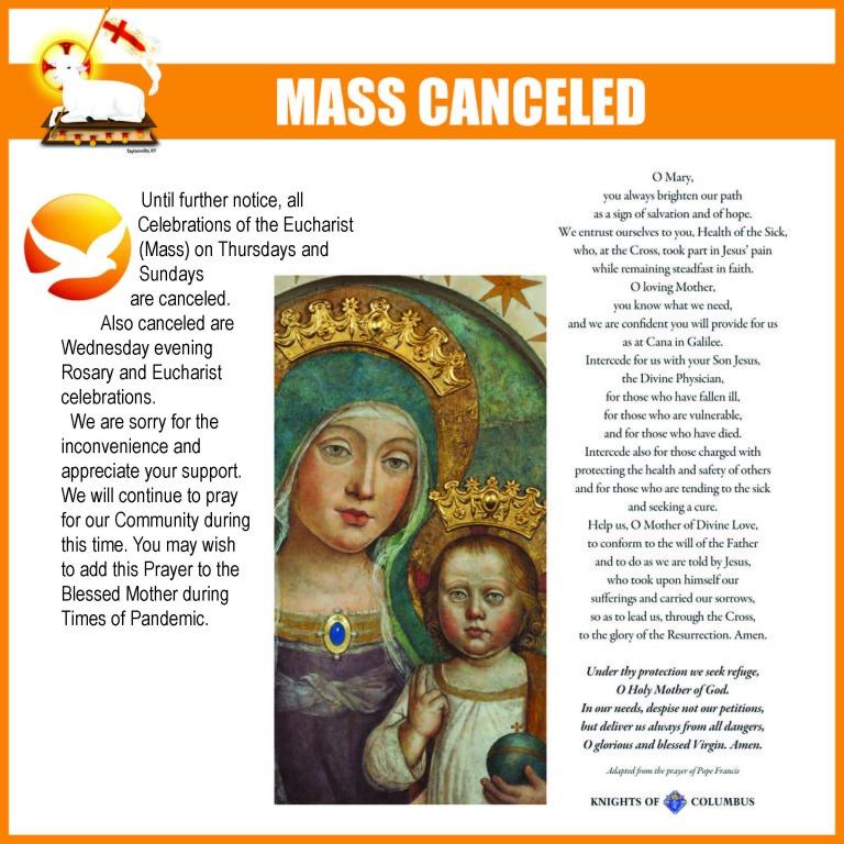 COVID 19 Mass Cancellation