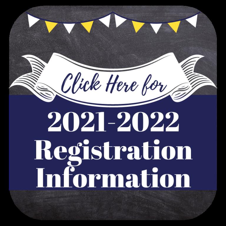 2021-2022 Registration Information Button
