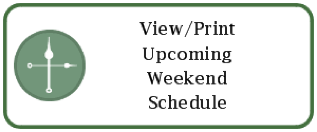 Upcoming Weekend Mass Schedule
